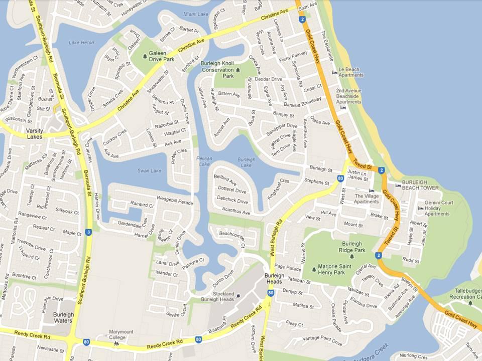 Map Burleigh